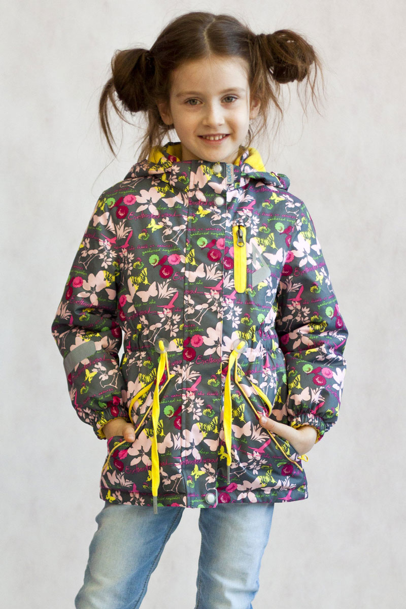 Куртка для девочки OLDOS ACTIVE Милана, цвет: серый. 17/OA-2JK509-2. Размер 128, 8 лет17/OA-2JK509-2Утепленная куртка-парка Милана из коллекции OLDOS ACTIVE отлично подойдет для активных прогулок вашей непоседы даже в самые прохладные, ветреные и дождливые дни. Верхняя ткань из полиэстера с мембраной 3000/3000 обеспечивает водонепроницаемость, при этом одежда дышит. Покрытие TEFLON повышает износостойкость, а также облегчает уход за курткой. Утеплитель Hollofan PRO плотностью 100 г/м2 позволяет носить куртку при температуре от +10°С до -5°С. Флисовая подкладка в области грудки и спинки, а также внутри капюшона и на воротнике-стойке обеспечивает дополнительное тепло и комфорт, а также помогает мембране отводить излишнюю влагу (пот). В рукавах - гладкий полиэстер для легкости одевания. Функционал куртки продуман до мелочей: застежка-молния, двойная ветрозащитная планка (внешняя застегивается на кнопки и липучки, внутренняя - с защитой подбородка), съемный капюшон с резинкой для лучшего прилегания, воротник-стойка с мягкой флисовой подкладкой, регулировка по талии, манжеты на резинке, карманы на молнии. Внутри куртки есть кармашек с нашивкой-потеряшкой, который застегивается на липучку. Куртка оснащена светоотражающими элементами.