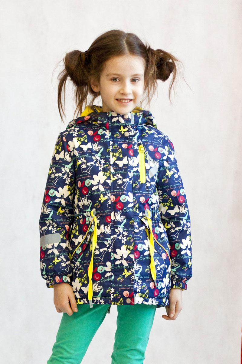 Куртка для девочки OLDOS ACTIVE Милана, цвет: синий. 17/OA-2JK509-2. Размер 134, 9 лет17/OA-2JK509-2Утепленная куртка-парка Милана из коллекции OLDOS ACTIVE отлично подойдет для активных прогулок вашей непоседы даже в самые прохладные, ветреные и дождливые дни. Верхняя ткань из полиэстера с мембраной 3000/3000 обеспечивает водонепроницаемость, при этом одежда дышит. Покрытие TEFLON повышает износостойкость, а также облегчает уход за курткой. Утеплитель Hollofan PRO плотностью 100 г/м2 позволяет носить куртку при температуре от +10°С до -5°С. Флисовая подкладка в области грудки и спинки, а также внутри капюшона и на воротнике-стойке обеспечивает дополнительное тепло и комфорт, а также помогает мембране отводить излишнюю влагу (пот). В рукавах - гладкий полиэстер для легкости одевания. Функционал куртки продуман до мелочей: застежка-молния, двойная ветрозащитная планка (внешняя застегивается на кнопки и липучки, внутренняя - с защитой подбородка), съемный капюшон с резинкой для лучшего прилегания, воротник-стойка с мягкой флисовой подкладкой, регулировка по талии, манжеты на резинке, карманы на молнии. Внутри куртки есть кармашек с нашивкой-потеряшкой, который застегивается на липучку. Куртка оснащена светоотражающими элементами.