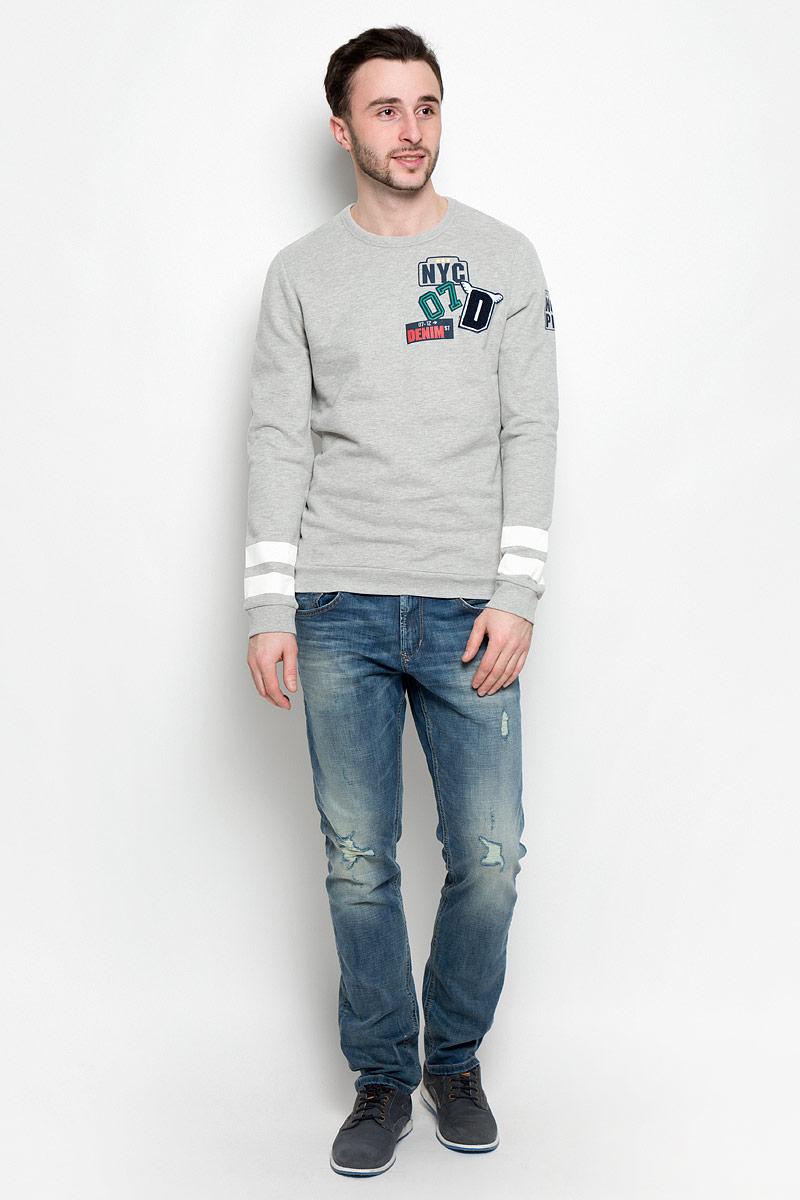 Свитшот мужской Tom Tailor Denim, цвет: серый. 2531006.00.12_2607. Размер XL (52) джемпер мужской tom tailor denim цвет бордовый 3022104 01 12 4257 размер xl 52