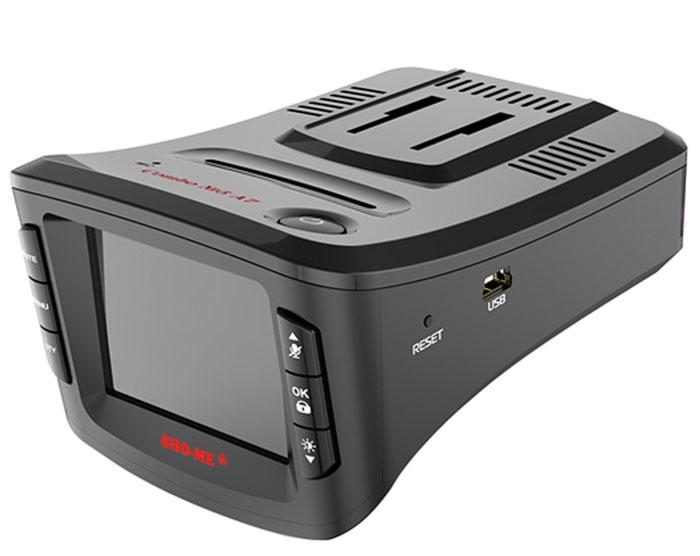 Sho-Me Combo №5 A7, Black видеорегистратор с радар-детекторомCOMBO №5-А7Видеорегистратор с антирадаром Sho-Me Combo №5 A7 - это уникальная комбинация самых важных для автомобилиста функций - запись происходящего на видео в высоком качестве (Full HD) и оповещение о сигналах полицейских радаров, принятых антенной и/или определяемых с помощью GPS.Благодаря своим компактным размерам, комбо-видеорегистратор Sho-Me Combo №5 A7 будет гармонично смотреться в салоне любого автомобиля, при этом не препятствуя обзору водителя.Камера видеорегистратора с широким углом обзора 140° захватывает соседние и встречные полосы движения, номера движущихся вокруг Вас автомобилей, а также сигналы светофора. Такой круг обзора позволит разрешить сложные спорные ситуации и предоставит видео отличного качества с места событий.Яркий дисплей диагональю 2 с высоким разрешением позволит вам с комфортомпросматривать отснятые видеоролике на самом видеорегистраторе, разглядеть все детали или c удобством управлять настройкой видеорегистратора.Высокочувствительные радар-детекторы Sho-Me Combo №5 A7 имеют встроенный дополнительный модуль,который позволяет уверенно обнаруживать комплекс Стрелка. Теперь штрафов в вашей жизни будет меньше, а удовольствия от езды за рулём больше!Функция голосового оповещения доступно и понятно оповещает водителя о приближении к системам контроля скорости. Данная система позволяет водителю не отвлекаться от дорожного движения и своевременно получать важную информацию о дорожной ситуации, тем самым повышая безопасность на дороге.Штамп даты и времени в кадре. Это позволяет установить дату и время в файле видеозаписи, а также добавить номер своего автомобиля. Наличие этой информации может быть актуальным при судебном разбирательстве и стать частью доказательной базы истца.