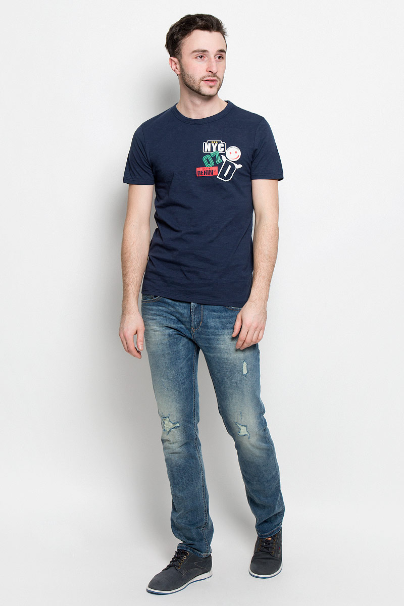 цена Футболка мужская Tom Tailor Denim, цвет: темно-синий. 1037489.00.12_6740. Размер XXL (54) онлайн в 2017 году