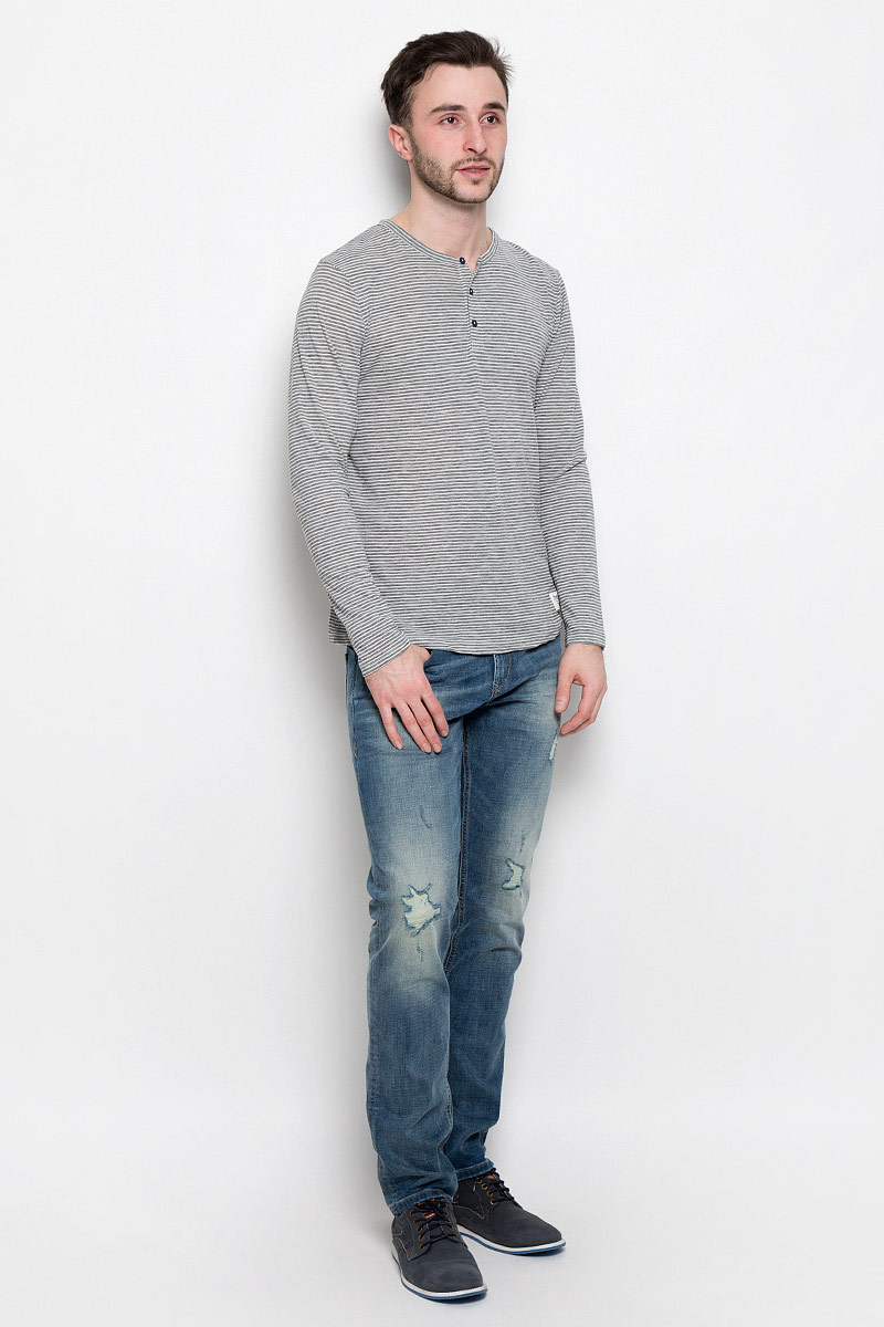 Лонгслив мужской Tom Tailor Denim, цвет: серый. 1037085.00.12_2607. Размер XL (52) no tax to eu 1500w cnc router 8060 3axis usb port mach3 control ball screw for metal aluminum stell wood etc