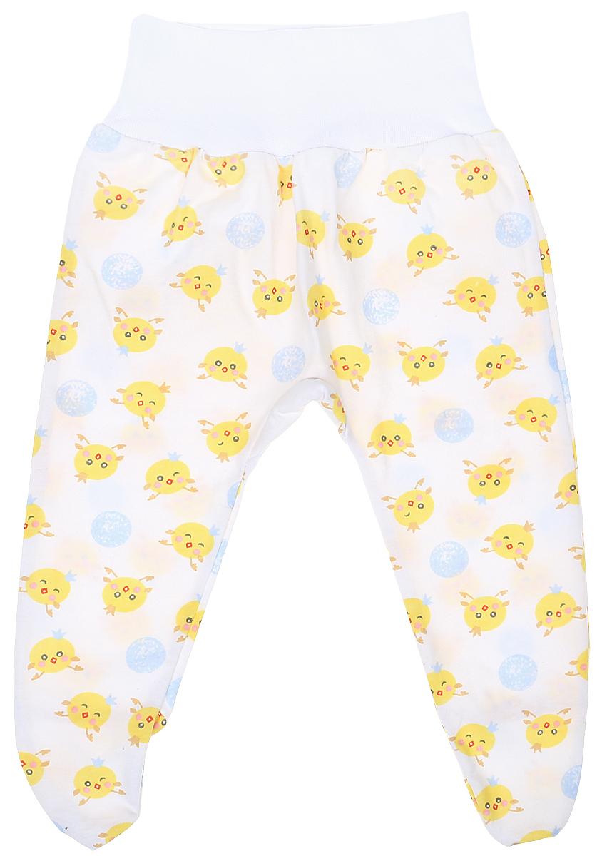 Ползунки детские Чудесные одежки, цвет: белый, голубой. 5207. Размер 805207Детские ползунки Чудесные одежки выполнены из натурального хлопка, благодаря чему великолепно пропускают воздух и обеспечивают комфорт и удобство, не раздражая нежную детскую кожу. Модель с закрытыми ножками и завышенной линией талии имеет широкий эластичный пояс. Ползунки оформлены принтом с изображением забавных цыплят.