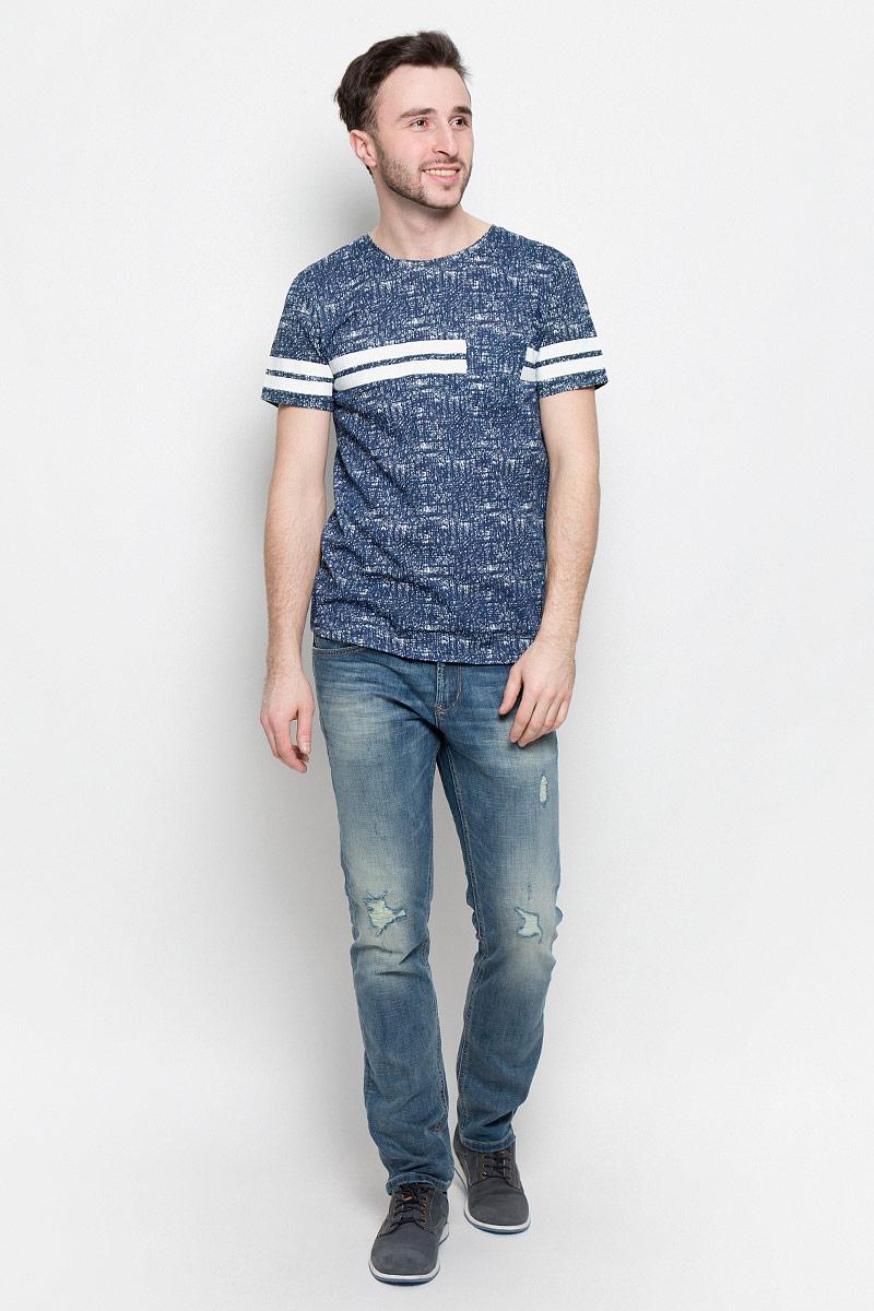 Футболка мужская Tom Tailor Denim, цвет: темно-синий. 1037079.00.12_2132. Размер M (48) футболка tom tailor denim tom tailor denim to793ewpzf86