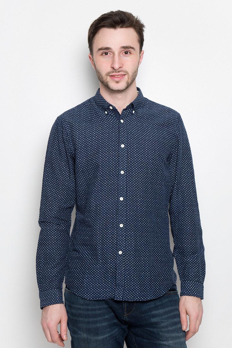 Рубашка мужская Tom Tailor Denim, цвет: темно-синий. 2033023.00.12_6740. Размер XL (52) платье tom tailor denim 5019774 00 71 6593