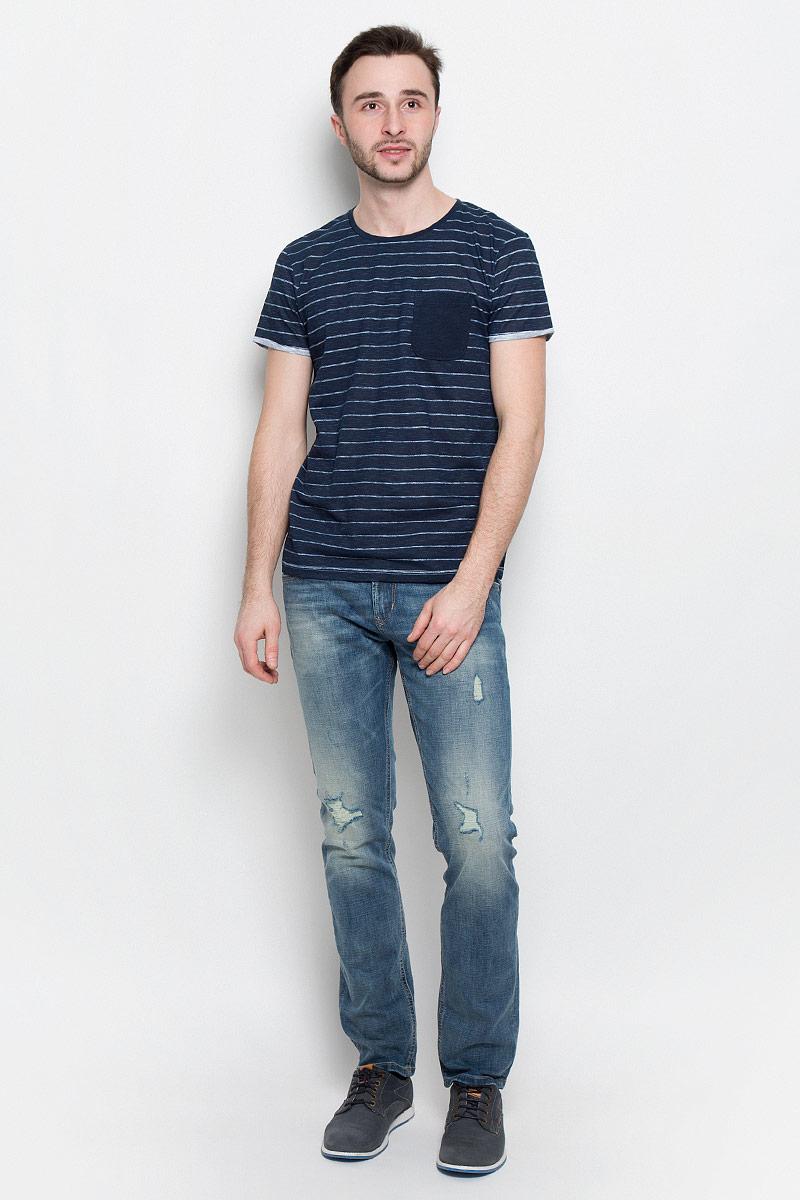 Футболка мужская Tom Tailor Denim, цвет: темно-синий. 1036933.09.12_6576. Размер L (50) куртка tom tailor denim 3555037 00 12 6576