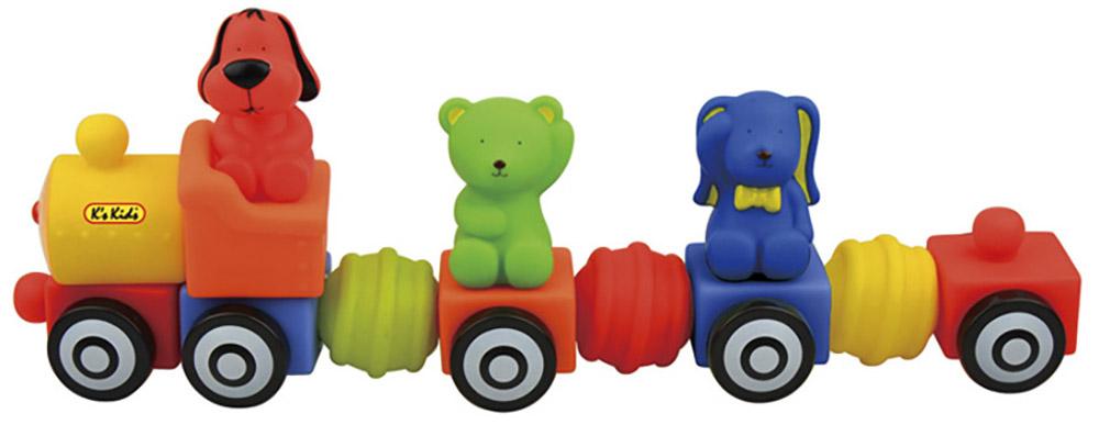 K's Kids Мягкий конструктор Поезд друзей doloni поезд конструктор с двумя прицепами