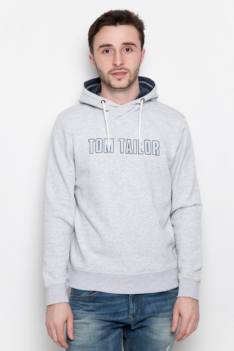 Толстовка мужская Tom Tailor, цвет: серый. 2530933.00.10_2220. Размер S (46)