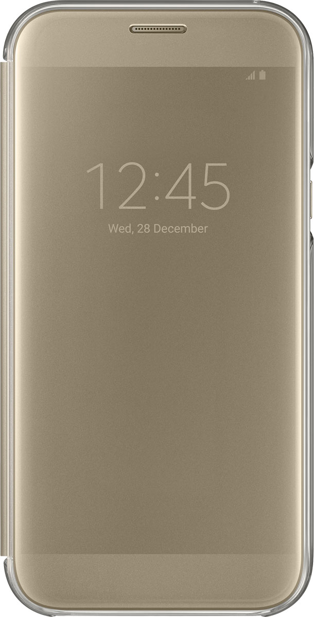 Samsung EF-ZA720 ClearView чехол для Galaxy A7 (2017), Gold ef mg955cvegru samsung