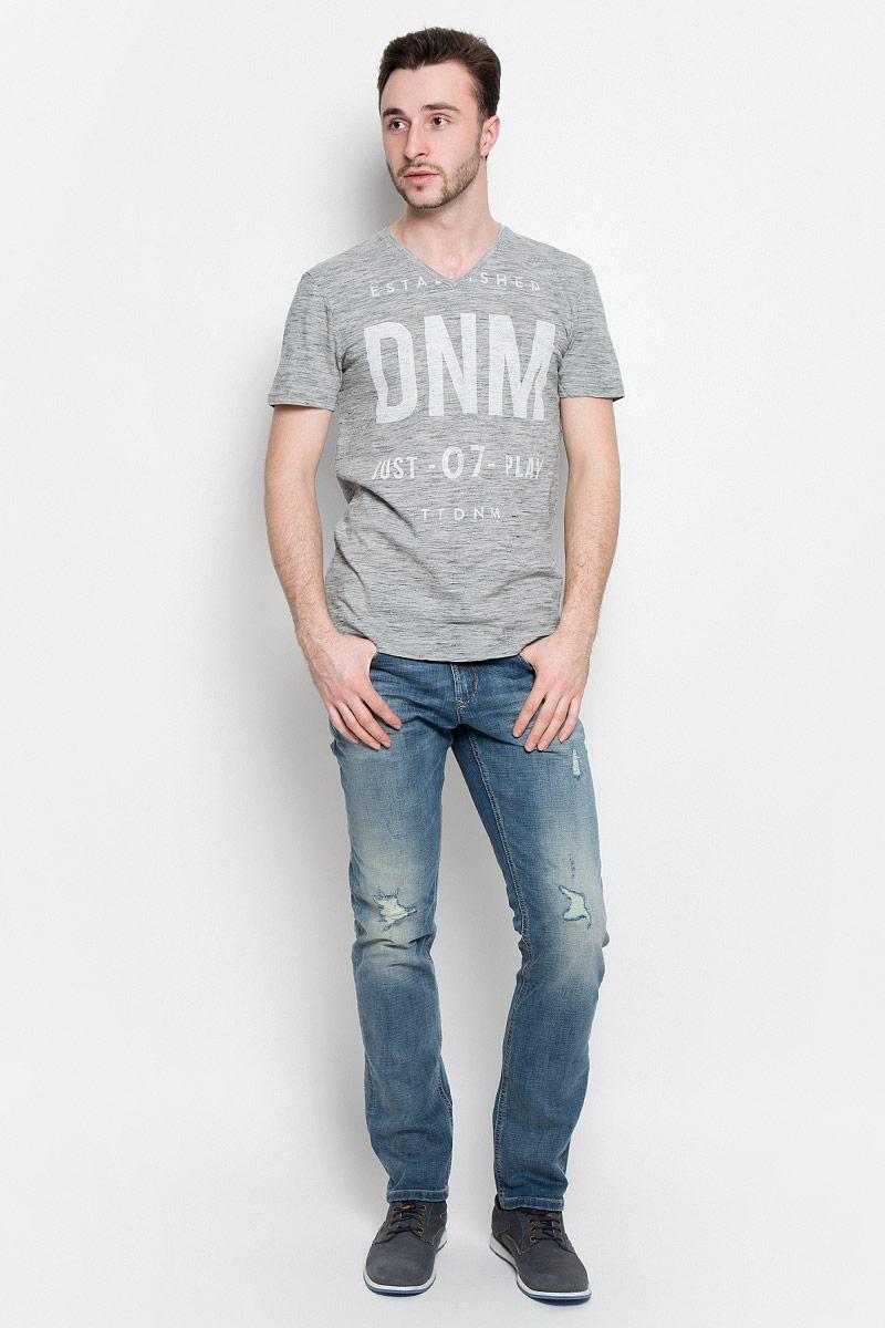 Футболка мужская Tom Tailor Denim, цвет: серый меланж. 1036925.09.12_2607. Размер M (48) футболка tom tailor denim tom tailor denim to793ewzfb71