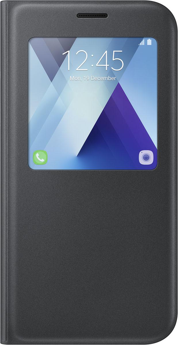 Samsung EF-CA720 S-View Standing чехол для Galaxy A7 (2017), Black чехол samsung s view standing для galaxy a7 2017 a720 ef ca720plegru blue