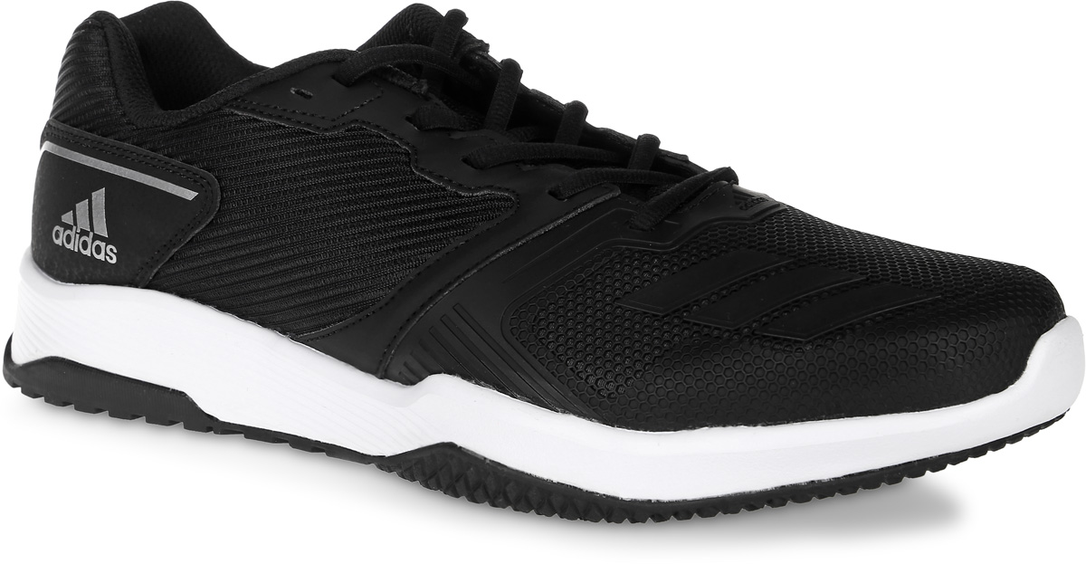 Кроссовки для фитнеса мужские adidas Gym Warrior 2 M, цвет: черный. S80681. Размер 9,5 (42,5)S80681Кроссовки для фитнеса adidas Gym Warrior 2 M выполнены из текстиля, искусственной кожи и полимера. Модель оформлена фирменными накладками. Шнурки надежно зафиксируют модель на ноге. Внутренняя поверхность из сетчатого текстиля комфортна при движении. Стелька выполнена из легкого ЭВА-материала с поверхностью из текстиля. Подошва изготовлена из высококачественной резины и дополнена рельефным рисунком.