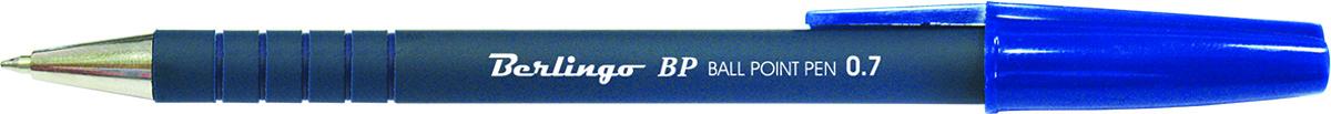 Berlingo Ручка шариковая BP синяяCBp_70262Стильная и удобная шариковая ручка Berlingo BP с высококачественными чернилами обеспечивает ровное и мягкое письмо.Корпус ручки состоит из непрозрачного пластика. Насечки грип-зоны не позволяют ручке скользить в пальцах. Детали корпуса тонированы в цвет чернил.