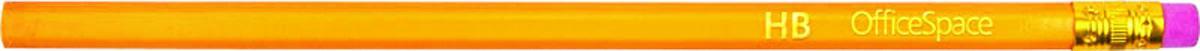 OfficeSpace Набор чернографитных карандашей с ластиком 12 шт BLSP_157 bic набор чернографитных карандашей evolution с ластиком 4 шт