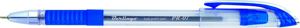 Berlingo Ручка шариковая PR-07 цвет синийCBp_70372Шариковая ручка Berlingo PR-07 с прозрачным корпусом и пластиковым клипом. Мягкий резиновый грип препятствует скольжению пальцев и обеспечивает комфортное письмо. Диаметр пишущего узла - 0,7 мм. Чернила на масляной основе.