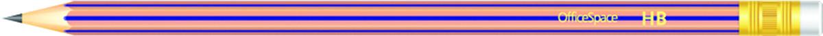 OfficeSpace Набор чернографитных карандашей с ластиком 12 шт PLPe_2807st/191026 bic набор чернографитных карандашей evolution с ластиком 4 шт
