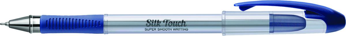 Berlingo Ручка шариковая Silk Touch синяяCBp_60872Ручка шариковая Berlingo Silk Touch с прозрачным корпусом, пластиковым клипом и мягким резиновый гриппом препятствует скольжению пальцев и обеспечивает комфортное письмо.Диаметр пишущего узла - 0,6 мм. Чернила пониженной вязкости обеспечивают мягкое письмо. Утолщенный стержень предоставляет рекордную длину письма.