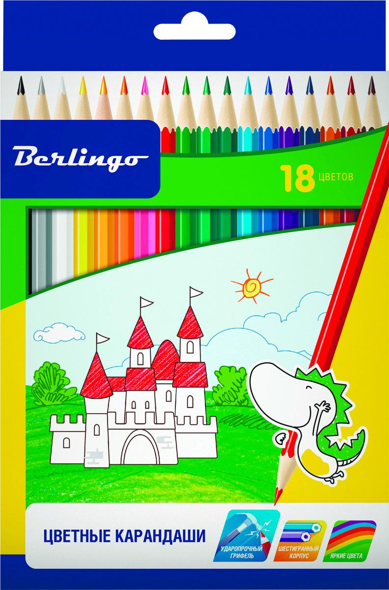 Berlingo Набор цветных карандашей Замки 18 штCP00118Набор цветных карандашей Berlingo Замки с заточенным грифелем.Карандаши имеют яркие насыщенные цвета. Штрихи мягко ложатся на бумагу. Карандаши легко затачиваются.