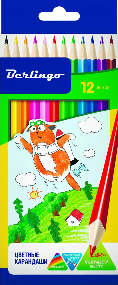 Berlingo Набор цветных карандашей Жил-был кот 12 штCP00512Набор цветных карандашей Berlingo Жил-был кот имеют эргономичную трехгранную форму корпуса.Карандаши с заточенным грифелем. Яркие насыщенные цвета. Мягкое письмо. Карандаши легко затачиваются.