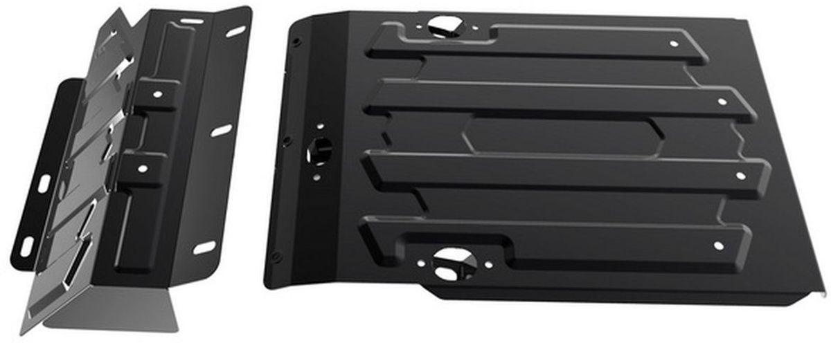 Защита картера Автоброня Lada 4х4 2001-, сталь 2 мм1.06006.1Защита картера Автоброня Lada 4х4 2001-, сталь 2 мм, штатный крепеж, 1.06006.1Стальные защиты Автоброня надежно защищают ваш автомобиль от повреждений при наезде на бордюры, выступающие канализационные люки, кромки поврежденного асфальта или при ремонте дорог, не говоря уже о загородных дорогах.- Имеют оптимальное соотношение цена-качество.- Спроектированы с учетом особенностей автомобиля, что делает установку удобной.- Защита устанавливается в штатные места кузова автомобиля.- Является надежной защитой для важных элементов на протяжении долгих лет.- Глубокий штамп дополнительно усиливает конструкцию защиты.- Подштамповка в местах крепления защищает крепеж от срезания.- Технологические отверстия там, где они необходимы для смены масла и слива воды, оборудованные заглушками, закрепленными на защите.Толщина стали 2 мм.В комплекте инструкция по установке.При установке используется штатный крепеж автомобиля.