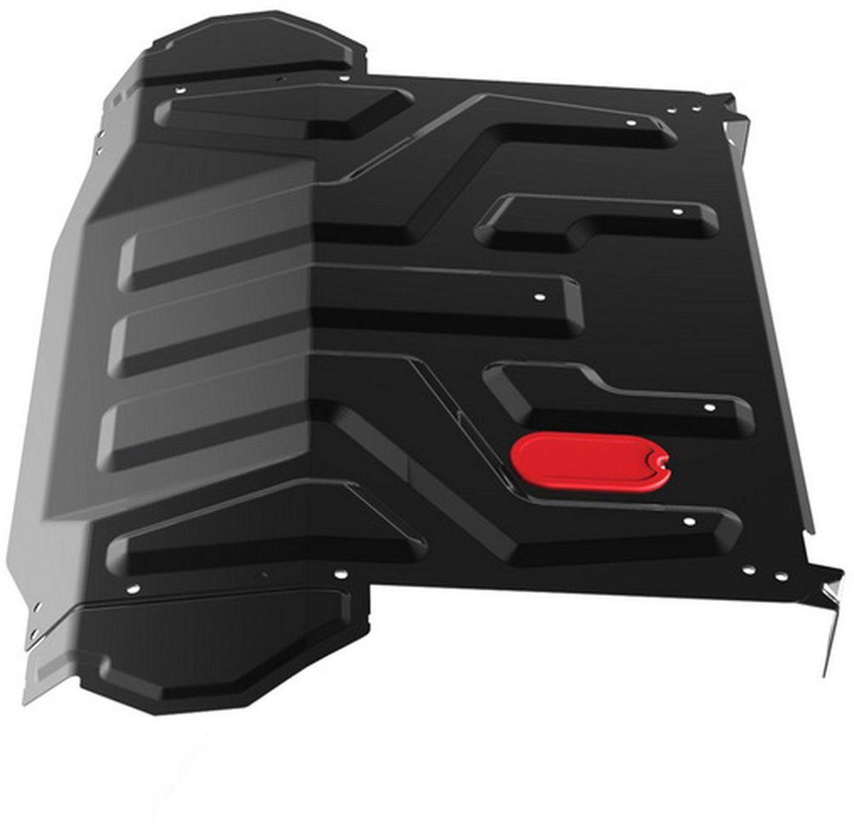 Защита картера и КПП Автоброня Lada Priora 2110 1995-2007 2007 -, сталь 2 мм1.06018.1Защита картера и КПП Автоброня Lada 2110 Priora, V- 1,6 1995-2007 2007 -, сталь 2 мм, штатный крепеж, 1.06018.1Стальные защиты Автоброня надежно защищают ваш автомобиль от повреждений при наезде на бордюры, выступающие канализационные люки, кромки поврежденного асфальта или при ремонте дорог, не говоря уже о загородных дорогах.- Имеют оптимальное соотношение цена-качество.- Спроектированы с учетом особенностей автомобиля, что делает установку удобной.- Защита устанавливается в штатные места кузова автомобиля.- Является надежной защитой для важных элементов на протяжении долгих лет.- Глубокий штамп дополнительно усиливает конструкцию защиты.- Подштамповка в местах крепления защищает крепеж от срезания.- Технологические отверстия там, где они необходимы для смены масла и слива воды, оборудованные заглушками, закрепленными на защите.Толщина стали 2 мм.В комплекте инструкция по установке.При установке используется штатный крепеж автомобиля.