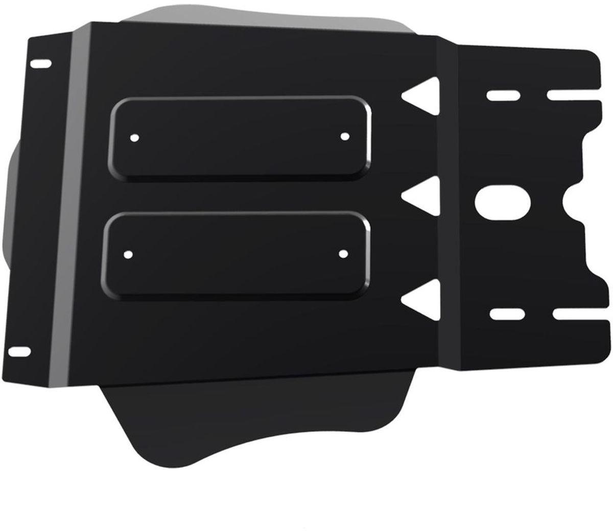 Защита КПП Автоброня Kia Mohave 2009-, сталь 2 мм111.02815.1Защита КПП Автоброня Kia Mohave 2009-, сталь 2 мм, комплект крепежа, 111.02815.1Дополнительно можно приобрести другие защитные элементы из комплекта: защита радиатора - 1.02813.1, защита картера - 111.02814.1, защита РК - 111.02816.1Стальные защиты Автоброня надежно защищают ваш автомобиль от повреждений при наезде на бордюры, выступающие канализационные люки, кромки поврежденного асфальта или при ремонте дорог, не говоря уже о загородных дорогах.- Имеют оптимальное соотношение цена-качество.- Спроектированы с учетом особенностей автомобиля, что делает установку удобной.- Защита устанавливается в штатные места кузова автомобиля.- Является надежной защитой для важных элементов на протяжении долгих лет.- Глубокий штамп дополнительно усиливает конструкцию защиты.- Подштамповка в местах крепления защищает крепеж от срезания.- Технологические отверстия там, где они необходимы для смены масла и слива воды, оборудованные заглушками, закрепленными на защите.Толщина стали 2 мм.В комплекте крепеж и инструкция по установке.Уважаемые клиенты!Обращаем ваше внимание на тот факт, что защита имеет форму, соответствующую модели данного автомобиля. Наличие глубокого штампа и лючков для смены фильтров/масла предусмотрено не на всех защитах. Фото служит для визуального восприятия товара.