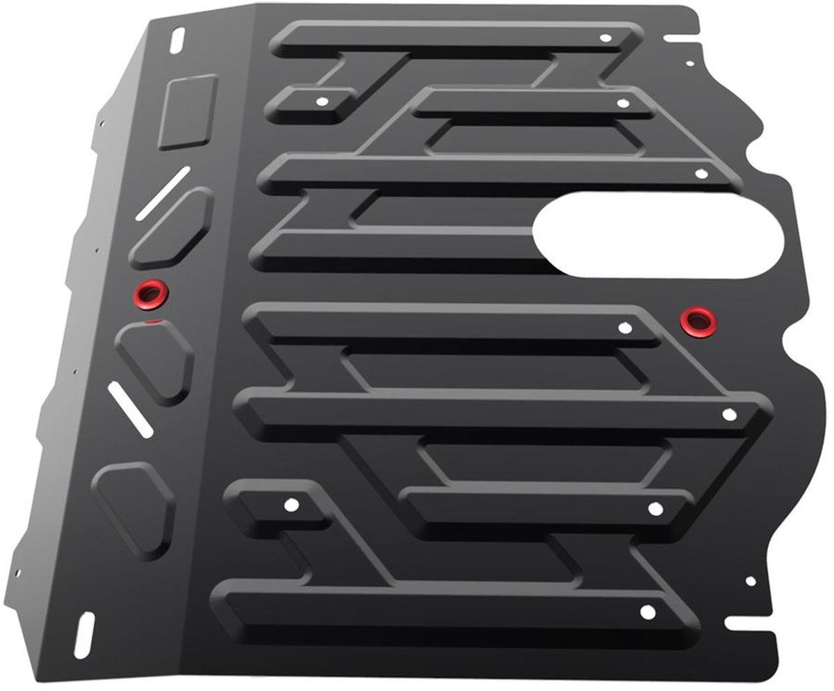 Защита картера и КПП Автоброня Kia Sorento 2012-, сталь 2 мм111.02823.1Защита картера и КПП Автоброня Kia Sorento, V - 2,2D; 2,4i 2012-, сталь 2 мм, комплект крепежа, 111.02823.1Стальные защиты Автоброня надежно защищают ваш автомобиль от повреждений при наезде на бордюры, выступающие канализационные люки, кромки поврежденного асфальта или при ремонте дорог, не говоря уже о загородных дорогах.- Имеют оптимальное соотношение цена-качество.- Спроектированы с учетом особенностей автомобиля, что делает установку удобной.- Защита устанавливается в штатные места кузова автомобиля.- Является надежной защитой для важных элементов на протяжении долгих лет.- Глубокий штамп дополнительно усиливает конструкцию защиты.- Подштамповка в местах крепления защищает крепеж от срезания.- Технологические отверстия там, где они необходимы для смены масла и слива воды, оборудованные заглушками, закрепленными на защите.Толщина стали 2 мм.В комплекте крепеж и инструкция по установке.