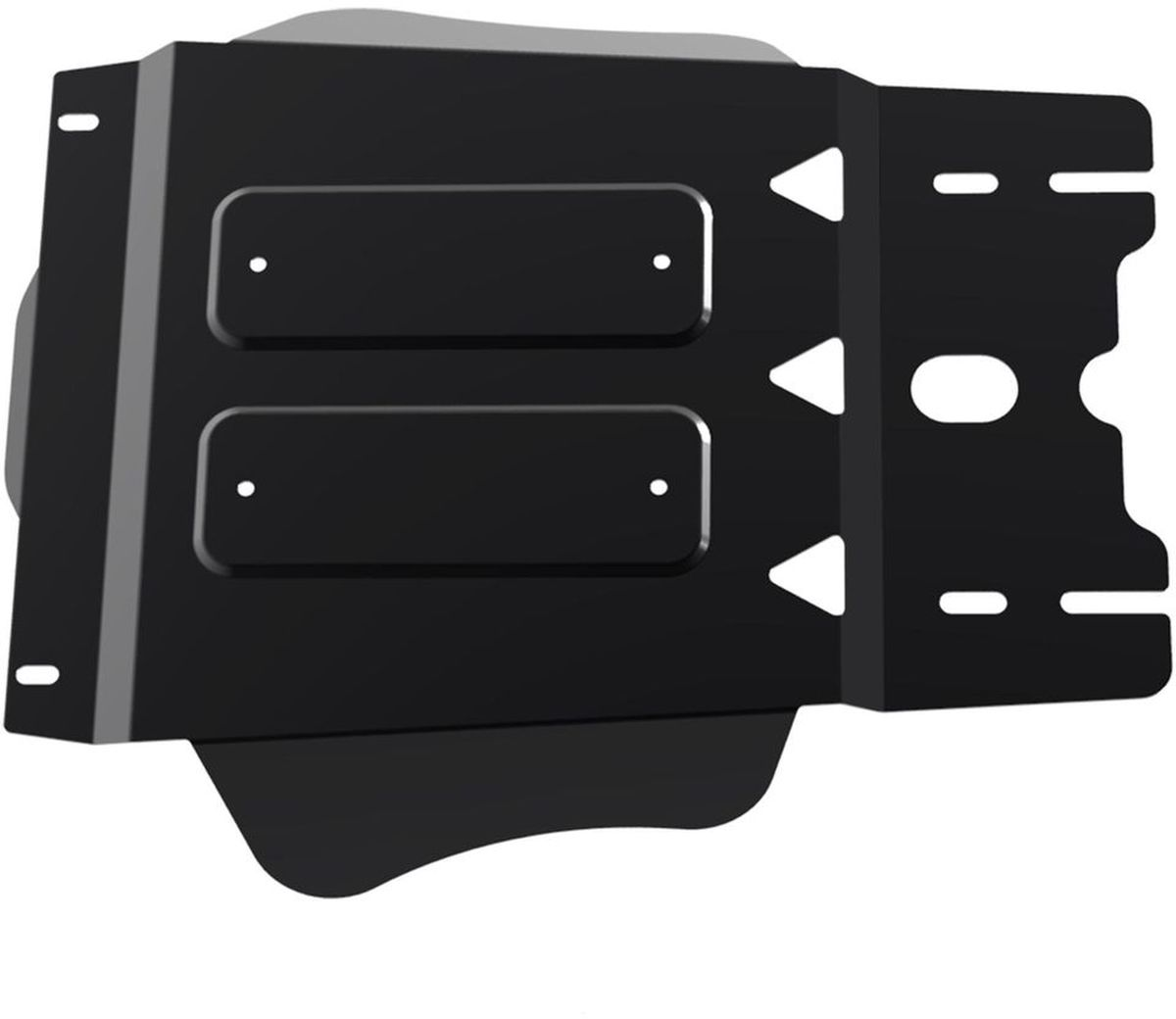 Защита КПП Автоброня Mitsubishi L200 2015-, сталь 2 мм111.04042.1Защита КПП Автоброня Mitsubishi L200 4WD, V - 2,4DID; 2,4DID H.P. 2015-, сталь 2 мм, комплект крепежа, 111.04042.1Стальные защиты Автоброня надежно защищают ваш автомобиль от повреждений при наезде на бордюры, выступающие канализационные люки, кромки поврежденного асфальта или при ремонте дорог, не говоря уже о загородных дорогах.- Имеют оптимальное соотношение цена-качество.- Спроектированы с учетом особенностей автомобиля, что делает установку удобной.- Защита устанавливается в штатные места кузова автомобиля.- Является надежной защитой для важных элементов на протяжении долгих лет.- Глубокий штамп дополнительно усиливает конструкцию защиты.- Подштамповка в местах крепления защищает крепеж от срезания.- Технологические отверстия там, где они необходимы для смены масла и слива воды, оборудованные заглушками, закрепленными на защите.Толщина стали 2 мм.В комплекте крепеж и инструкция по установке.Уважаемые клиенты!Обращаем ваше внимание на тот факт, что защита имеет форму, соответствующую модели данного автомобиля. Наличие глубокого штампа и лючков для смены фильтров/масла предусмотрено не на всех защитах. Фото служит для визуального восприятия товара.