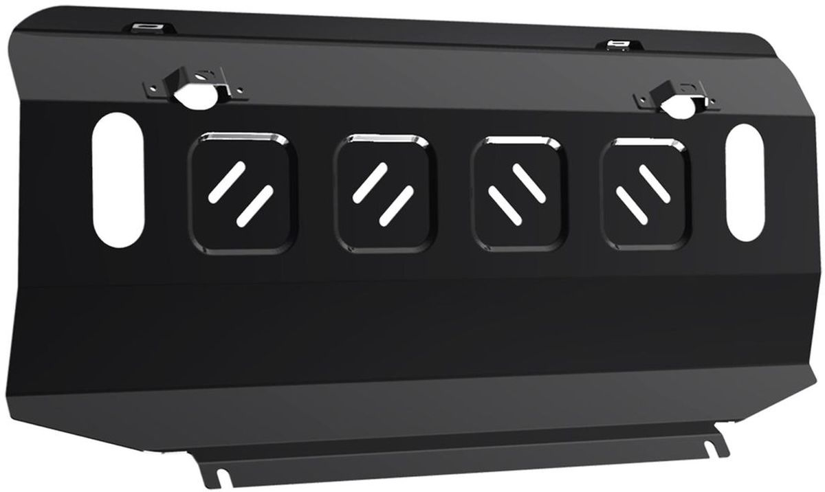 Защита радиатора Автоброня Mitsubishi L200 2015-/Mitsubishi Pajero Sport 2016-, сталь 2 мм111.04046.1Защита радиатора Автоброня Mitsubishi L200, V - 2.4d; 2,4d H.P. 2015-/Mitsubishi Pajero Sport, V - 3,0i 2016-, сталь 2 мм, комплект крепежа, 111.04046.1Стальные защиты Автоброня надежно защищают ваш автомобиль от повреждений при наезде на бордюры, выступающие канализационные люки, кромки поврежденного асфальта или при ремонте дорог, не говоря уже о загородных дорогах.- Имеют оптимальное соотношение цена-качество.- Спроектированы с учетом особенностей автомобиля, что делает установку удобной.- Защита устанавливается в штатные места кузова автомобиля.- Является надежной защитой для важных элементов на протяжении долгих лет.- Глубокий штамп дополнительно усиливает конструкцию защиты.- Подштамповка в местах крепления защищает крепеж от срезания.- Технологические отверстия там, где они необходимы для смены масла и слива воды, оборудованные заглушками, закрепленными на защите.Толщина стали 2 мм.В комплекте крепеж и инструкция по установке.Уважаемые клиенты!Обращаем ваше внимание на тот факт, что защита имеет форму, соответствующую модели данного автомобиля. Наличие глубокого штампа и лючков для смены фильтров/масла предусмотрено не на всех защитах. Фото служит для визуального восприятия товара.