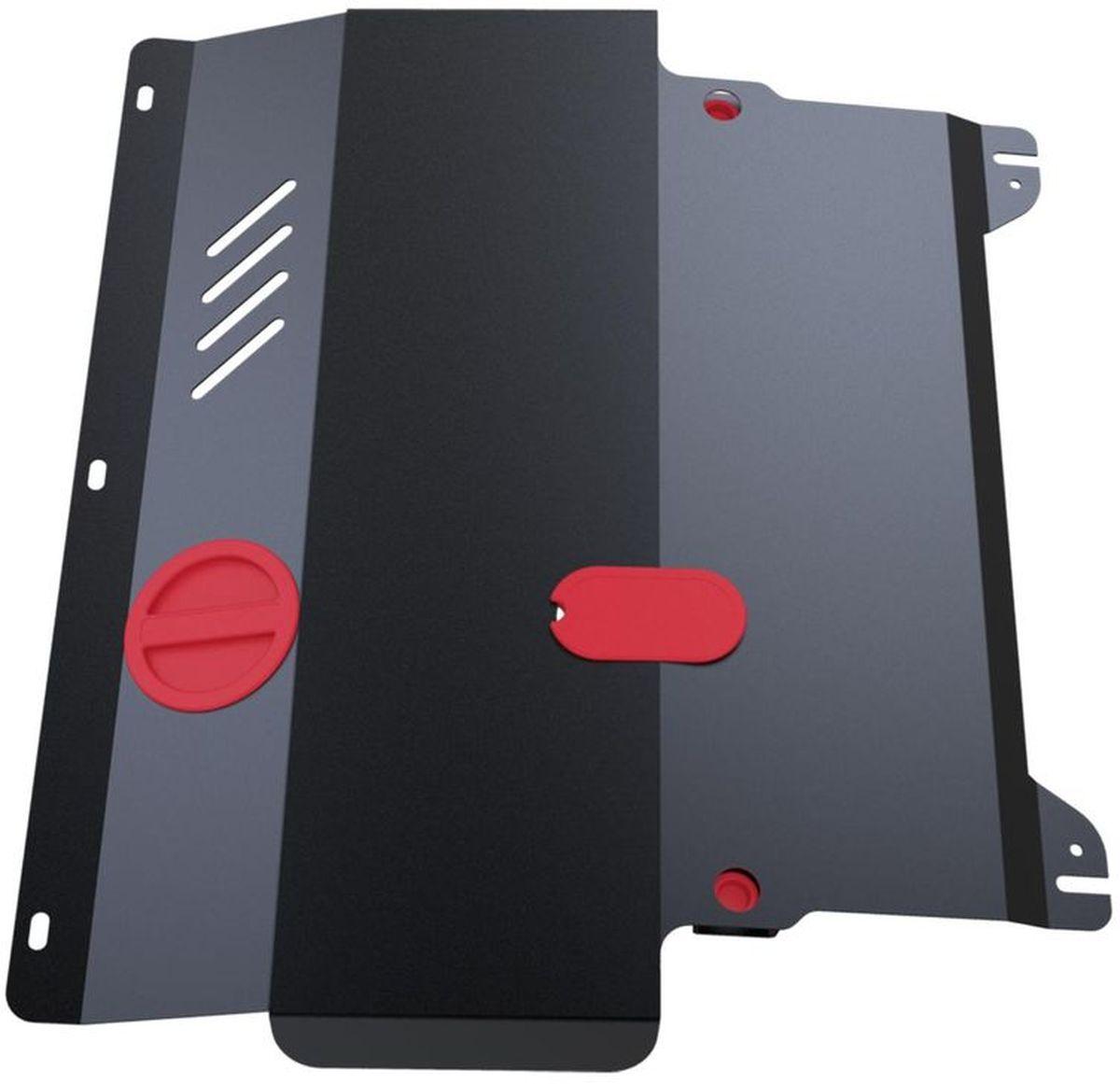 Защита картера и КПП Автоброня Nissan Quashqai 2006-2014/Renault Koleos 2008-, сталь 2 мм111.04111.1Защита картера и КПП Автоброня для Nissan Quashqai, V - 1,6; 2,0 2006-2014/Renault Koleos, V - 2,0; 2,5 2008-, сталь 2 мм, комплект крепежа, 111.04111.1Стальные защиты Автоброня надежно защищают ваш автомобиль от повреждений при наезде на бордюры, выступающие канализационные люки, кромки поврежденного асфальта или при ремонте дорог, не говоря уже о загородных дорогах.- Имеют оптимальное соотношение цена-качество.- Спроектированы с учетом особенностей автомобиля, что делает установку удобной.- Защита устанавливается в штатные места кузова автомобиля.- Является надежной защитой для важных элементов на протяжении долгих лет.- Глубокий штамп дополнительно усиливает конструкцию защиты.- Подштамповка в местах крепления защищает крепеж от срезания.- Технологические отверстия там, где они необходимы для смены масла и слива воды, оборудованные заглушками, закрепленными на защите.Толщина стали 2 мм.В комплекте крепеж и инструкция по установке.Уважаемые клиенты!Обращаем ваше внимание на тот факт, что защита имеет форму, соответствующую модели данного автомобиля. Наличие глубокого штампа и лючков для смены фильтров/масла предусмотрено не на всех защитах. Фото служит для визуального восприятия товара.