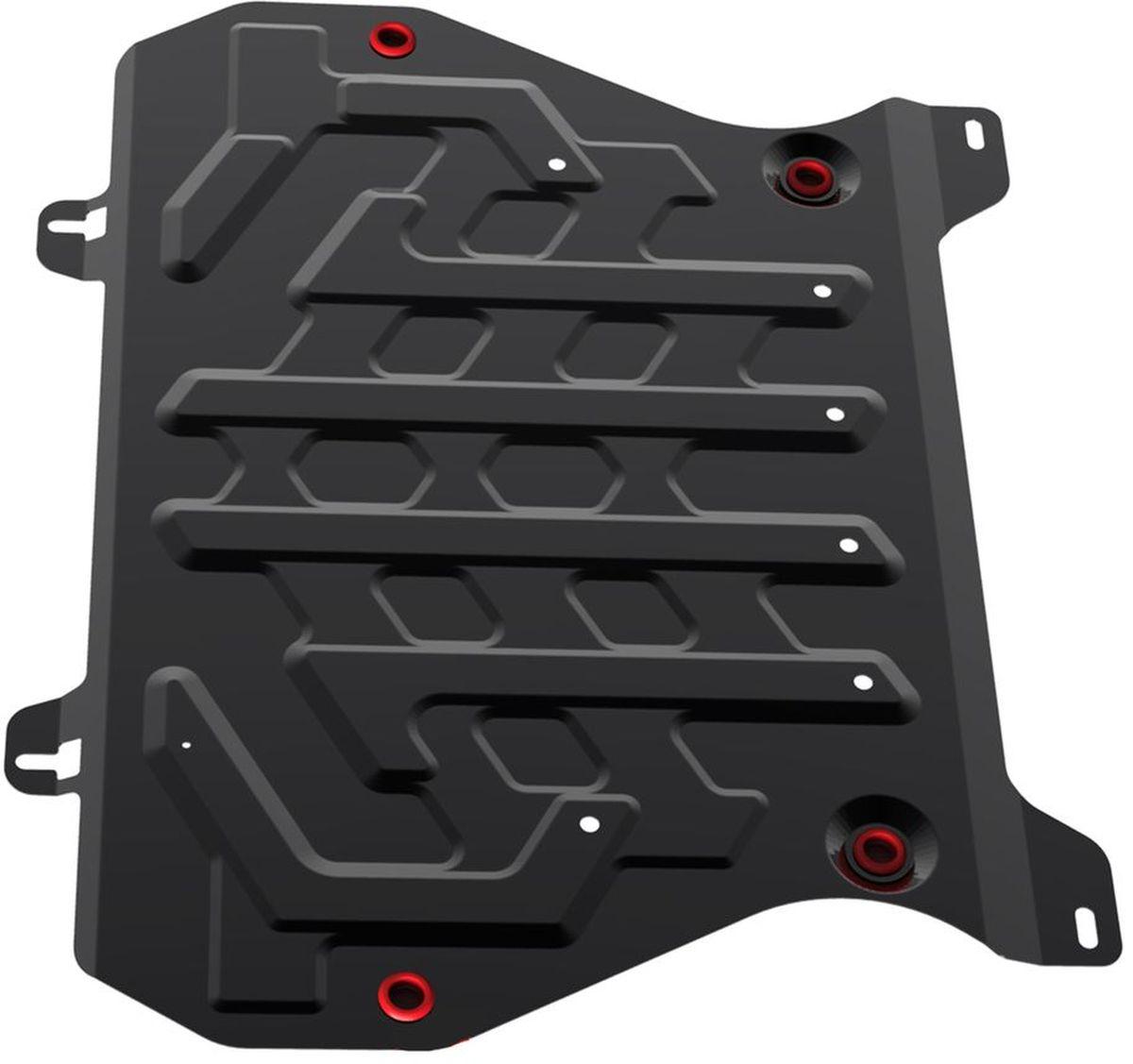 Защита картера и КПП Автоброня Nissan Juke 2011-, сталь 2 мм111.04141.1Защита картера и КПП Автоброня Nissan Juke картер, V - 1,6 2011-, сталь 2 мм, комплект крепежа, 111.04141.1Стальные защиты Автоброня надежно защищают ваш автомобиль от повреждений при наезде на бордюры, выступающие канализационные люки, кромки поврежденного асфальта или при ремонте дорог, не говоря уже о загородных дорогах.- Имеют оптимальное соотношение цена-качество.- Спроектированы с учетом особенностей автомобиля, что делает установку удобной.- Защита устанавливается в штатные места кузова автомобиля.- Является надежной защитой для важных элементов на протяжении долгих лет.- Глубокий штамп дополнительно усиливает конструкцию защиты.- Подштамповка в местах крепления защищает крепеж от срезания.- Технологические отверстия там, где они необходимы для смены масла и слива воды, оборудованные заглушками, закрепленными на защите.Толщина стали 2 мм.В комплекте крепеж и инструкция по установке.