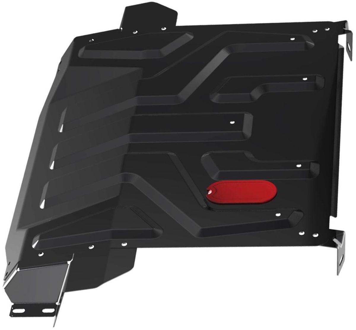 Защита картера и КПП Автоброня, для Lada 2110/2170 Priora. 111.06019.1111.06019.1Технологически совершенный продукт за невысокую стоимость.Защита разработана с учетом особенностей днища автомобиля, что позволяет сохранить дорожный просвет с минимальным изменением.Защита устанавливается в штатные места кузова автомобиля. Глубокий штамп обеспечивает до двух раз больше жесткости в сравнении с обычной защитой той же толщины. Проштампованные ребра жесткости препятствуют деформации защиты при ударах.Тепловой зазор и вентиляционные отверстия обеспечивают сохранение температурного режима двигателя в норме. Скрытый крепеж предотвращает срыв крепежных элементов при наезде на препятствие.Шумопоглощающие резиновые элементы обеспечивают комфортную езду без вибраций и скрежета металла, а съемные лючки для слива масла и замены фильтра - экономию средств и времени.Конструкция изделия не влияет на пассивную безопасность автомобиля (при ударе защита не воздействует на деформационные зоны кузова).Толщина стали: 2 мм.В комплекте набор крепежа.