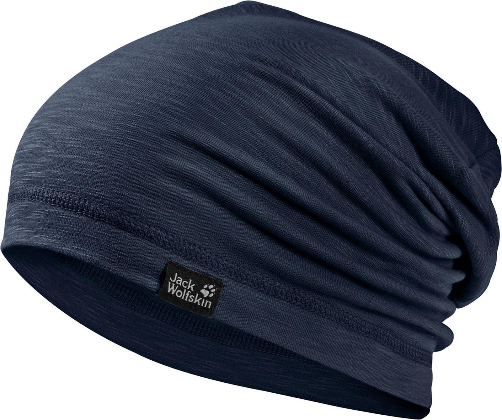 Шапка Jack Wolfskin Travel Beanie, цвет: темно-синий. 1905601-1010. Размер 55/591905601-1010Пешие прогулки, бег или путешествия - такая шапка идеально подходит для любой ситуации. Шапка выполнена из легкой, приятной на ощупь ткани. Изделие отлично впитывает влагу, поэтому в такой шапке вам всегда будет комфортно. Ткань также имеет специальную обработку, которая уменьшает образование неприятных запахов. Шапка универсальная, она отлично подойдет для образа в стиле casual.