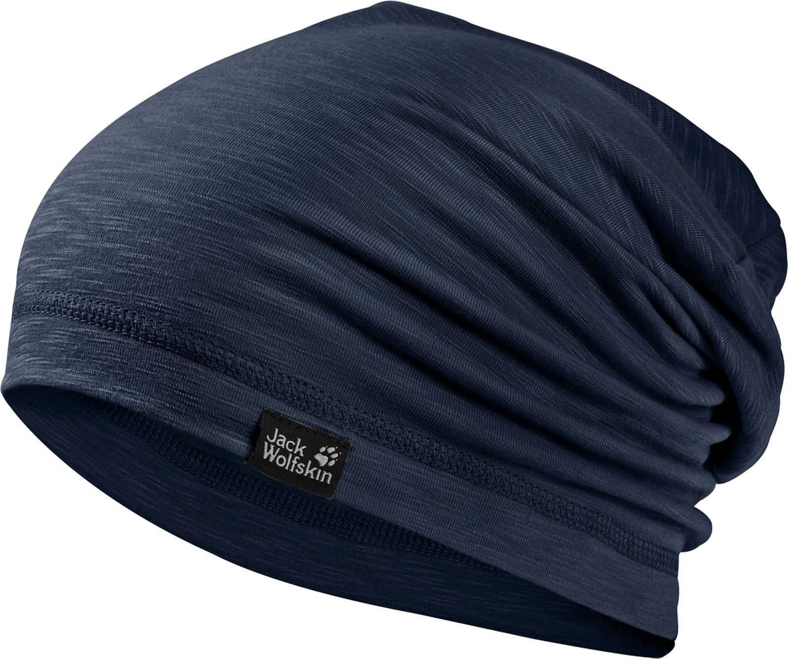 Шапка Jack Wolfskin Travel Beanie, цвет: темно-синий. 1905601-1010. Размер 55/59 шапка jack wolfskin jack wolfskin ja021cukhp70