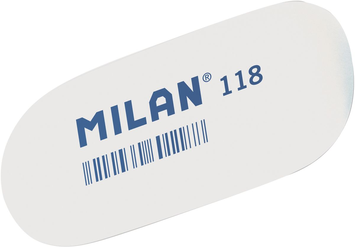Milan Ластик 118 цвет белыйCMM118Ластик Milan овальной формы для точного стирания. Полумягкая текстура.