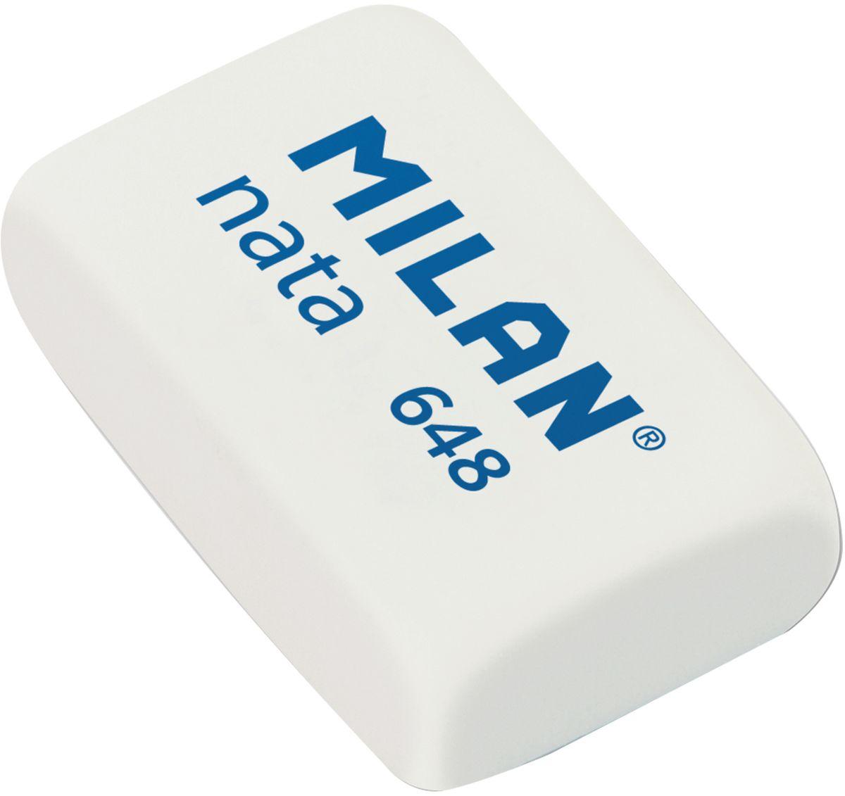 Milan Ластик Nata 648 прямоугольныйCPM648NЛастик Milan Nata 648 производится с добавлением отбеливающих компонентов и обладает структурой средней жесткости. Все эти свойства гарантируют безупречную работу с любыми видами графита и цветных пигментов, а также бережное отношение к поверхности бумаги.