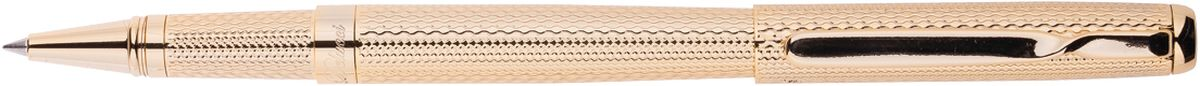 Delucci Ручка роллер синяя корпус золотоCPs_61914Ручка роллер поможет подчеркнуть стиль их обладателей. Цвет корпуса золотистого цвета, с рифлением. Оригинальный клип, изящнаягравировка. Диаметр пишущего узла - 0,6 мм.В комплект входит одна ручка и один стержень для нее. Запасные стержни в комплект не входят.