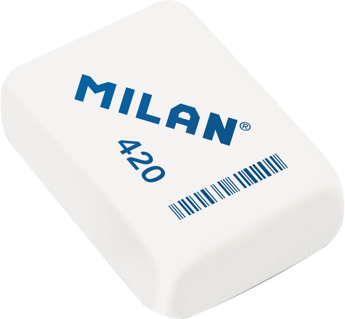 Milan Ластик 420 цвет белыйCMM420Поликомпонентный ластик Milan традиционной формы имеет высокую абсорбцию и великолепную структуру.