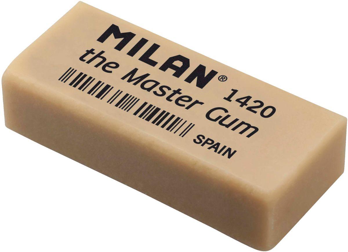 Milan Ластик Master Gum 1420 прямоугольныйCMM1420-05Ластик Milan Master Gum 1420 - это специальный ластик для изящных искусств. Усовершенствованный ластик, изготовленный из синтетического каучука, который имеет высокую способность к адсорбции с углем и графитом. Он стирает легко, без давления на поверхность бумаги, образуя мягкие крошки. Он также может быть использован для стирания или размытия рисунков, сделанных углем.