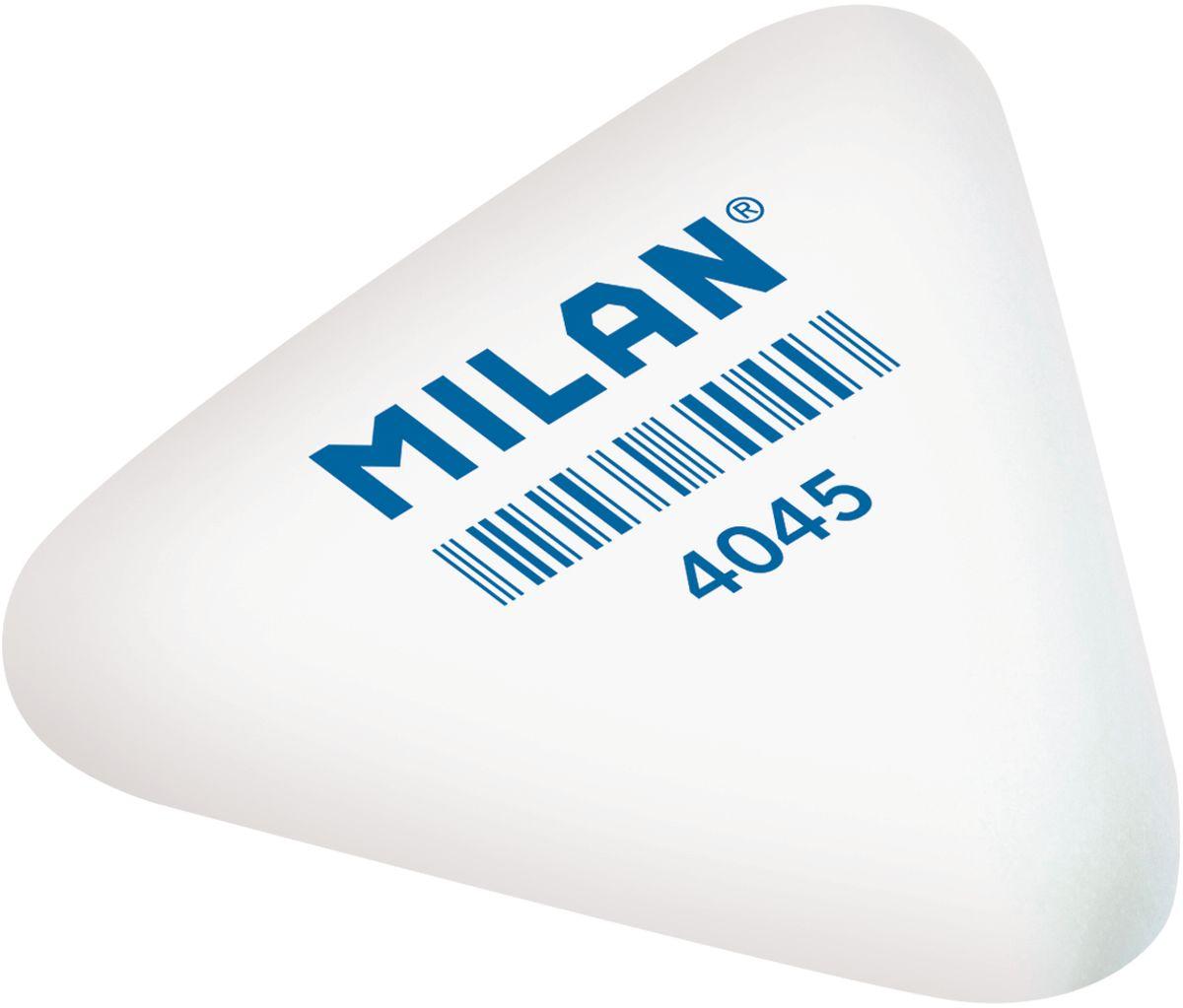 Milan Ластик 4045 треугольныйPMM4045Мягкий синтетический каучуковый ластик треугольной формы. Подходит для удаления штрихов от большинства графитовых карандашей на всех видах поверхностей.