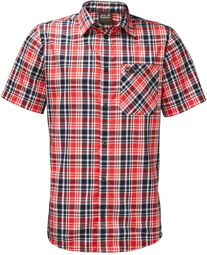Рубашка мужская Jack Wolfskin Saint Elmos Shirt M, цвет: красный. 1401582-7889. Размер XXXL (56) рубашки jack wolfskin рубашка hot chili men