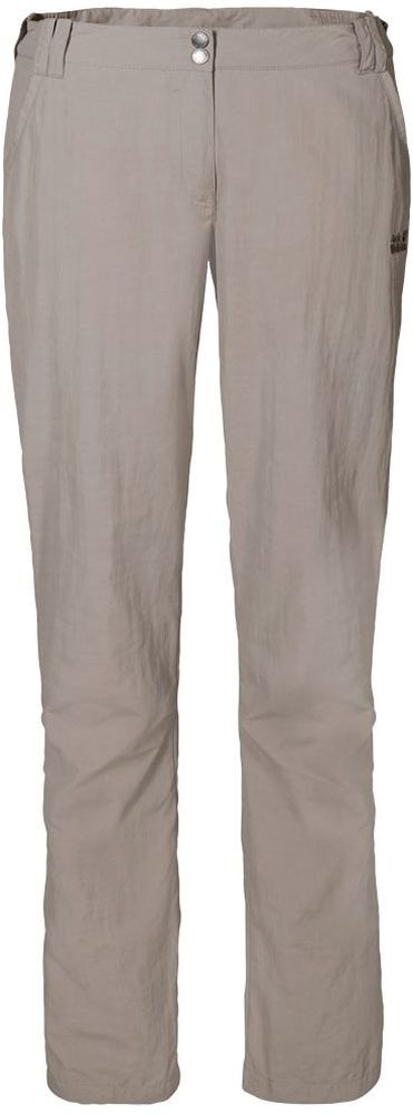Брюки женские Jack Wolfskin Kalahari Pants W, цвет: бежевый. 1503311-5041. Размер 40 (48) luxury brand 42mm parnis black dial white dial date 24 hour power reserve moon phase miyota 9100 automatic mens wrist watch p560