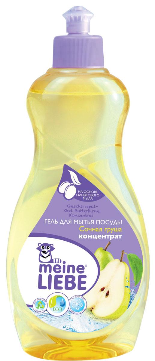 Гель для мытья посуды Meine Liebe, концентрат, с ароматом сочной груши, 500 млml32201Густой концентрированный гель Meine Liebe предназначен для мытья посуды. Он результативно удаляет въевшиеся жирные и засохшие загрязнения, придает ослепительный блеск. Гель эффективно растворяется как в горячей, так и в холодной воде. Полностью смывается с посуды, не оставляя следов средства и лишних запахов. Обладает приятным ароматом сочной груши. Гель для мытья посуды Meine Liebe обеспечивает мягкое и деликатное действие на кожу рук. Не содержит фосфатов, хлора, формальдегидов, растворителей.Состав: деминерализованная вода, 5-15% анионные ПАВ, 5-15% неионогенные ПАВ, 5-15% амфотерные ПАВ, краситель, отдушка, консервант.Товар сертифицирован.Уважаемые клиенты! Обращаем ваше внимание на возможные изменения в дизайне упаковки. Качественные характеристики товара остаются неизменными. Поставка осуществляется в зависимости от наличия на складе.