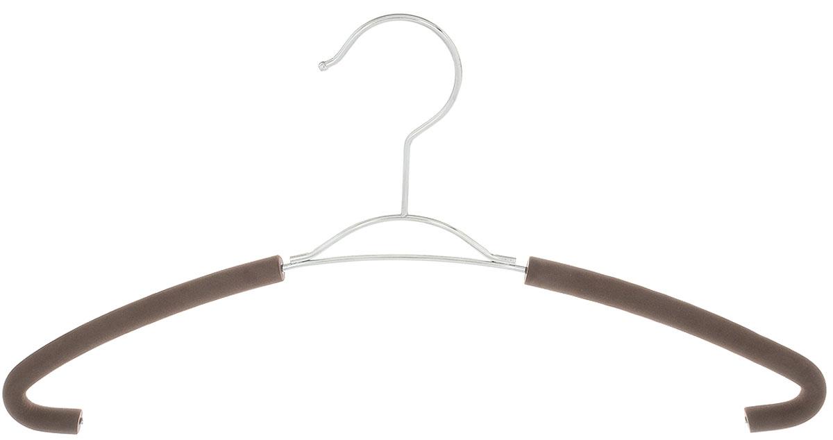Вешалка для рубашек Attribute Hanger Eva, цвет: кофейный, длина 41 смAHM771Вешалка для рубашек Attribute Hanger Eva выполнена из качественной стали, плечики обтянуты поролоном.Вешалка - это незаменимая вещь для того, чтобы ваша одежда всегда оставалась в хорошем состоянии. Длина вешалки: 41 см.
