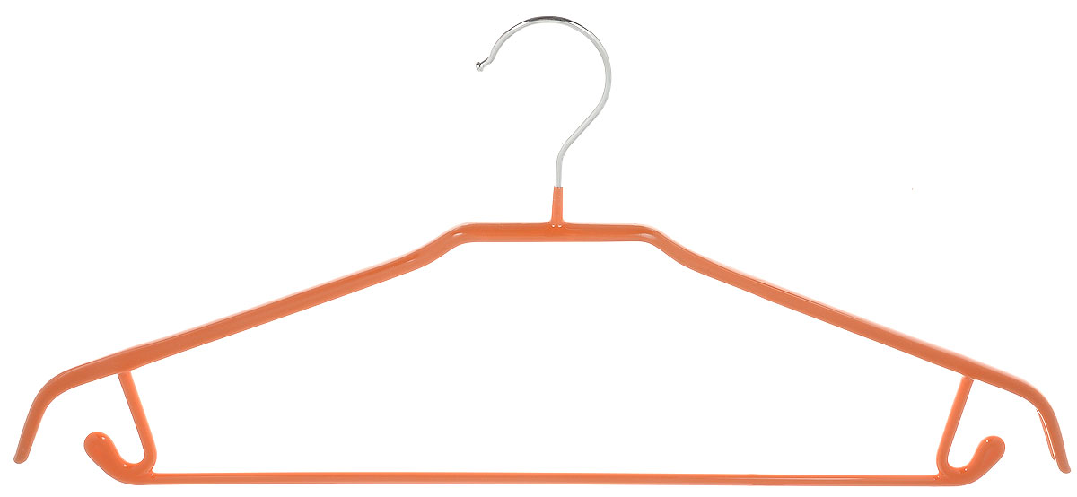 Вешалка универсальная Attribute Hanger Neo, цвет: оранжевый, длина 43 смAHS021Вешалка Attribute Hanger Neo изготовлена из качественной стали с антискользящим покрытием из ПВХ. Изделие оснащено перекладиной и боковыми крючками.Вешалка - это незаменимая вещь для того, чтобы одежда всегда оставалась в хорошем состоянии и имела опрятный вид.Длина вешалки: 43 см.