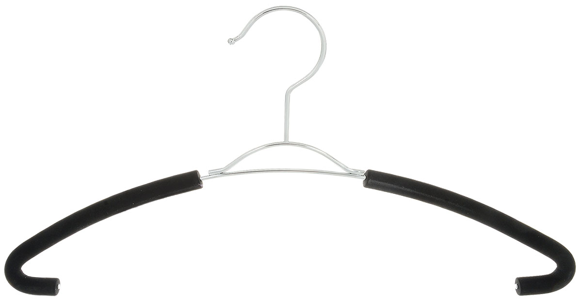Вешалка для рубашек Attribute Hanger Eva, цвет: черный, длина 41 смAHM791Вешалка для рубашек Attribute Hanger Eva выполнена из качественной стали, плечики обтянуты поролоном.Вешалка - это незаменимая вещь для того, чтобы ваша одежда всегда оставалась в хорошем состоянии. Длина вешалки: 41 см.