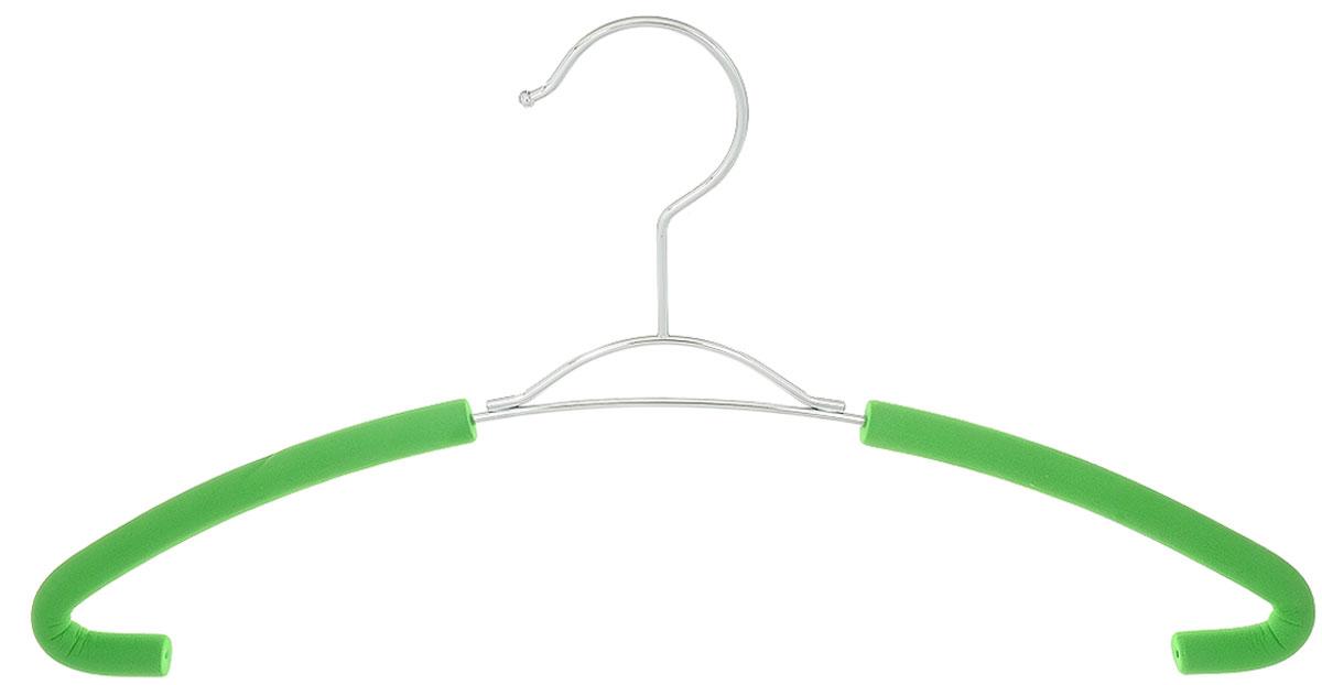 """Вешалка для рубашек Attribute Hanger """"Eva"""" выполнена из качественной стали, плечики обтянуты поролоном.Вешалка - это незаменимая вещь для того, чтобы ваша одежда всегда оставалась в хорошем состоянии. Длина вешалки: 41 см."""