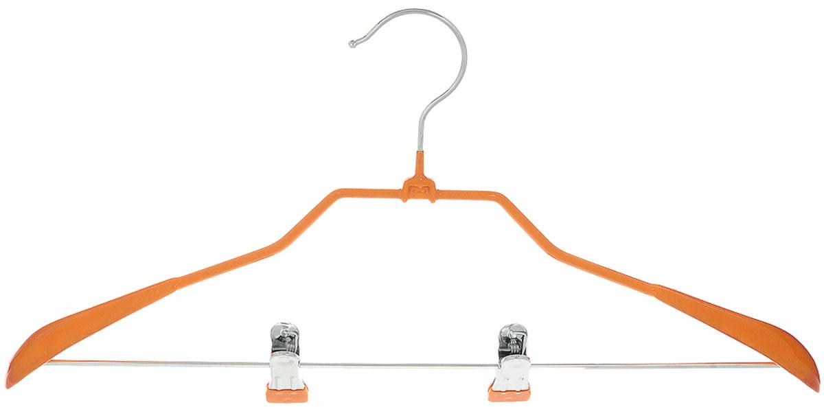 """Вешалка для костюма Attribute Hanger """"Home"""" выполнена из металла с антискользящим покрытием из ПВХ. Зажимы для брюк имеют специальные накладки, чтобы не повредить ткань. Длина вешалки: 45 см."""