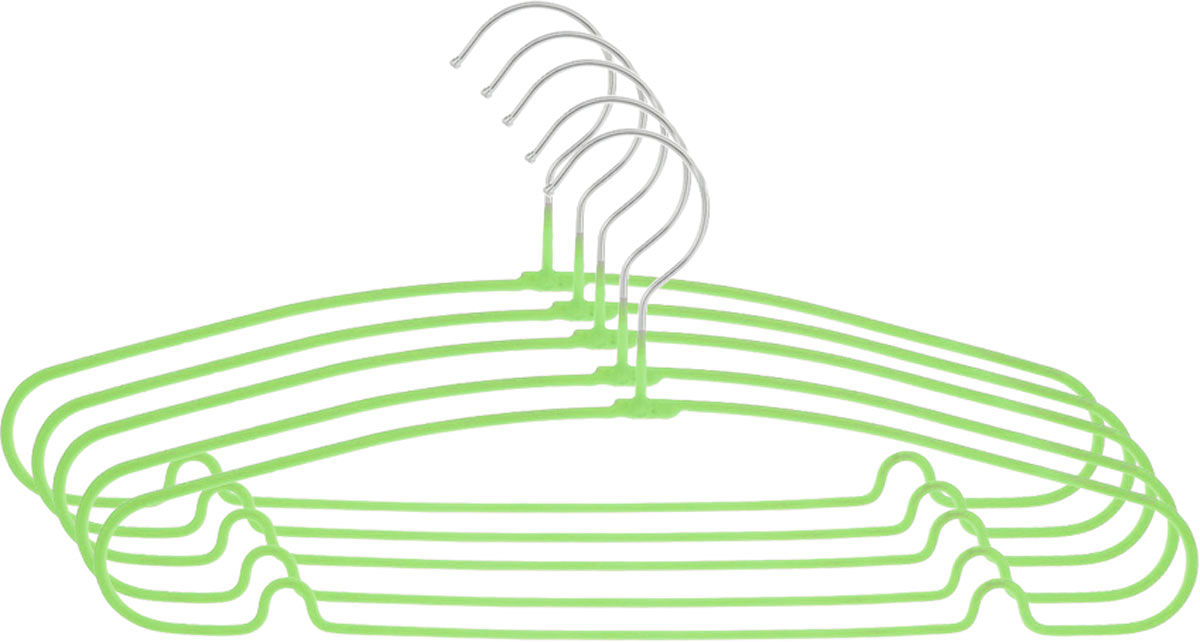 Вешалка Attribute Hanger Home, цвет: зеленый, длина 40 см, 5 штAHS154Набор вешалок Attribute Hanger Home выполнен из стали, обтянутой материалом из ПВХ. Вешалка - это незаменимая вещь для того, чтобы ваша одежда всегда оставалась в хорошем состоянии.Длина вешалки: 40 см.