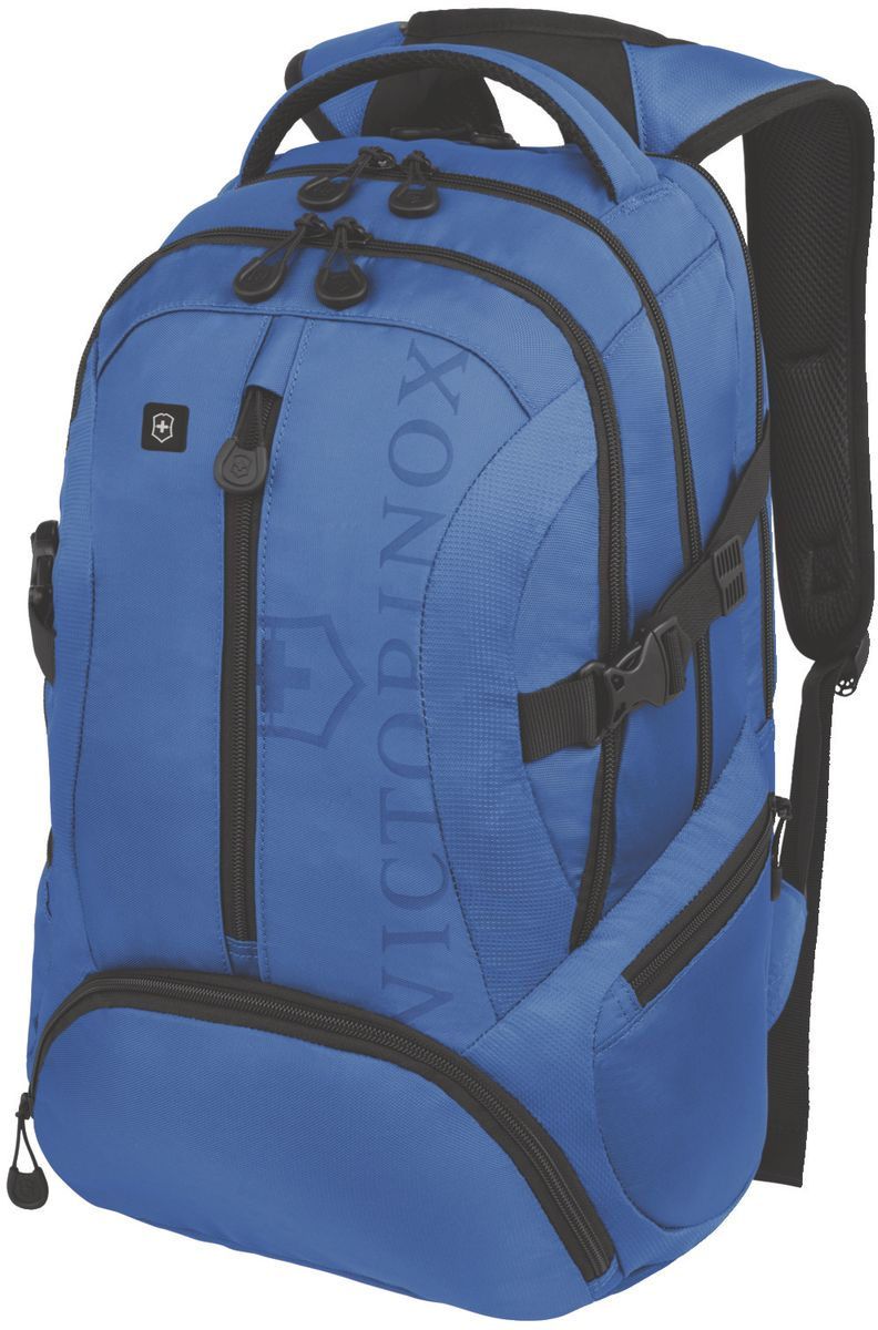 Рюкзак городской Victorinox VX Sport Scout, цвет: голубой, 20 л + ПОДАРОК: нож-брелок Escort31105109Коллекция VX Sport сочетает в себе культовый дизайн и прочную конструкцию.Основанные на многогранной функциональности,которая присуща оригинальному швейцарскому армейскому ножу,рюкзаки этой коллекции обеспечивают защиту современным технологическим устройствам и многофункциональную организацию вещей таким образом,что вы будете готовы к любой ситуации. VICTORINOXарт. 31105009РЮКЗАК ДЛЯ НОУТБУКА ДИАГОНАЛЬЮ 16 / 41 СМ С КАРМАНОМ ДЛЯ ПЛАНШЕТА / ЭЛЕКТРОННОЙ КНИГИ33x18x46 см1 кг20 лХАРАКТЕРИСТИКИ И СВОЙСТВА• Мягкое отделение для ноутбука диагональю 16 (41см) с гладкой, устойчивой к механическим повреждениям подкладкой• Мягкий карман для портативного электронного устройства диагональю 10 (25 см) с гладкой, устойчивой к механическим повреждениям подкладкой• Внешняя организационная секция включает в себя карман на молнии по всей длине, карман для хранения электроники, карман для хранения периферийных устройств, сетчатый карман для документов, удостоверяющих личность, кармашек для ручки и карабин для ключей• Фронтальная сторона включает в себя внешний карман на молнии и многофункциональные боковые сетчатые карманы, идеально подходящие для бутылки с водой или зонтика• Мягкая задняя стенка и мягкие регулируемые плече.• Задний рукав для продевания через телескопическую ручку чемоданов позволяет одновременно перемещать два и более предметов багажа
